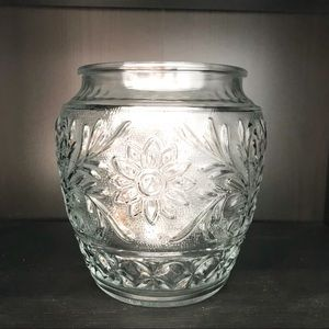 Vintage Boho flower glass vase